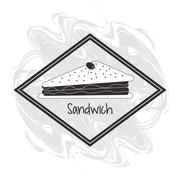 Sandwich frame bread lunch snack icon Stock Illustration