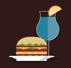 sandwich bread lunch snack icon - stock illustration