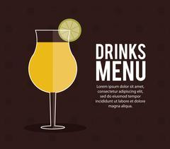 cocktail lemon glass summer alcohol icon - stock illustration