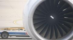 Airplane engine Stock Footage