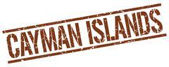 Cayman Islands brown square stamp Stock Illustration
