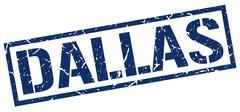 Dallas blue square stamp Piirros