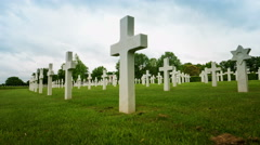 American War Memorial Cemetery Time Lapse Stock Footage