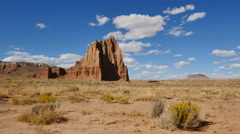 Desert Badlands Time Lapse 4K Capitol Reef Temple of the Sun Closer Stock Footage
