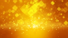 Warm orange gold color motion background with animated squares. Stock Footage