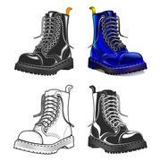 Boot . Creative design elements. Great quality vector illustration Stock Illustration