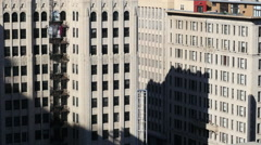 Time Lapse of Shadows Passing Over Historic Buildings in Downtown Los Angeles Stock Footage