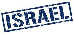Israel blue square stamp Piirros