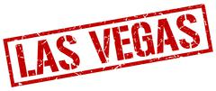 Las Vegas red square stamp Stock Illustration