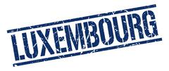 Luxembourg blue square stamp Stock Illustration