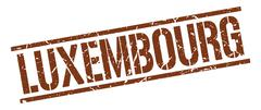 Luxembourg brown square stamp Stock Illustration