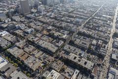 Los Angeles Korea Town Aerial Stock Photos