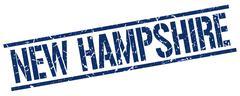 New Hampshire blue square stamp Stock Illustration