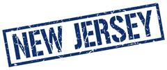 New Jersey blue square stamp Piirros