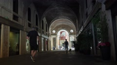 Street in a center of Vicenza, Italy, ULTRA HD 4k, real time Stock Footage