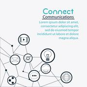 Connect communications social network icon Stock Illustration
