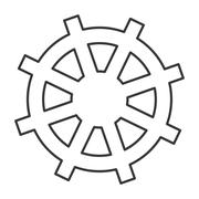 Boat rudder icon Stock Illustration