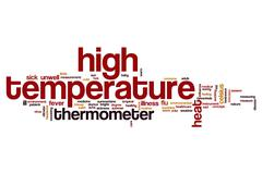High temperature word cloud Stock Illustration