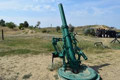 Anti-aircraft guns. Museum of weapons Stock Photos