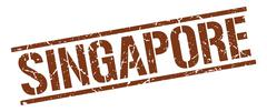 Singapore brown square stamp Piirros