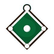 Baseball field icon Stock Illustration