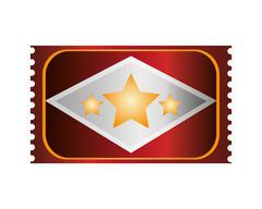 Movie ticket icon Stock Illustration