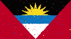 Celebratory animated background of flag of Antigua and Barbuda Stock Footage