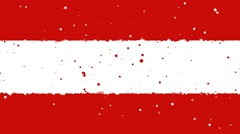 Celebratory animated background of flag of Austria appear from fireworks Stock Footage