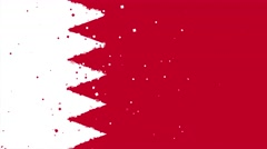 Celebratory animated background of flag of Bahrain appear from fireworks Stock Footage
