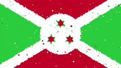 Celebratory animated background of flag of Burundi appear from fireworks Stock Footage