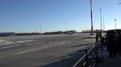 Russia, Petropavlovsk-Kamchatsky, Yelizovo airport December 11, 2015 Stock Footage