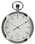 Silver Pocket Watch Stock Illustration