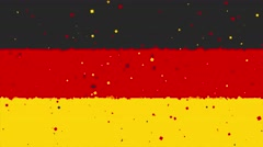 Celebratory animated background of flag of Germany appear from fireworks Stock Footage