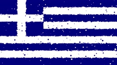 Celebratory animated background of flag of Greece appear from fireworks Stock Footage
