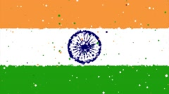 Celebratory animated background of flag of India appear from fireworks Stock Footage