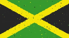Celebratory animated background of flag of Jamaica appear from fireworks Stock Footage