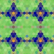 Kaleidoscopic low poly hexagon style vector mosaic background Stock Illustration