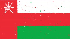 Celebratory animated background of flag of Oman appear from fireworks Stock Footage