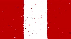 Celebratory animated background of flag of Peru appear from fireworks Stock Footage