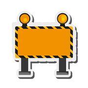 Under construction road sign icon Stock Illustration