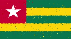 Celebratory animated background of flag of Togo appear from fireworks Stock Footage