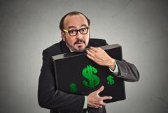 Money greed wealth security - stock photo