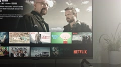 Netflix App on Smart TV  Stock Footage