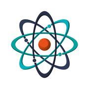 atom structure icon - stock illustration