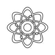 Atom structure icon Stock Illustration