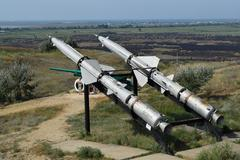 Air defense missiles Stock Photos