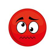 Sphere cartoon face expression icon Stock Illustration