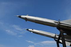Air defense missiles Stock Photos