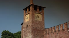 Ponte Scaligero and Castelvecchio,Verona, ULTRA HD 4k, real time Stock Footage