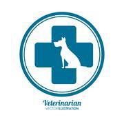 Veterinarian pet clinic icon Stock Illustration